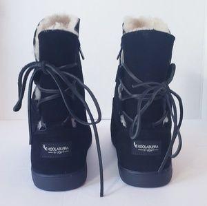UGG S/N 1019361 Koolaburra Shazi Suede Black Boots